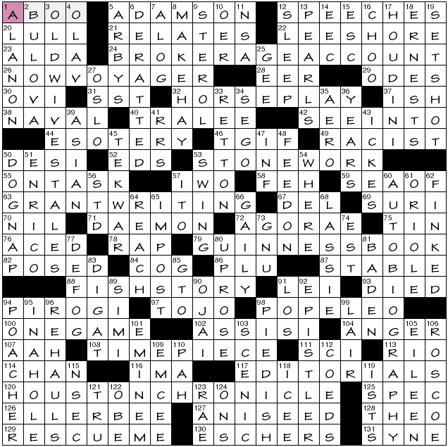 essay byline crossword clue